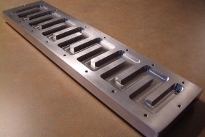 Chiller plate base- showing the baffles
